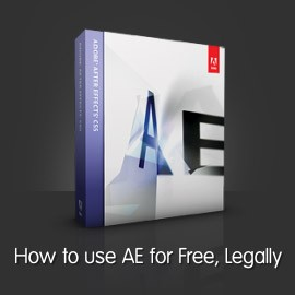 How to use After Effects for free legally